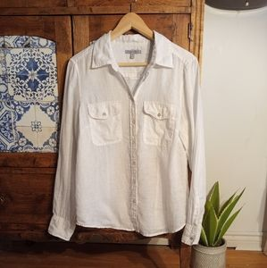 2/$20🌺 100% linen shirt size Medium